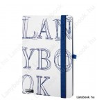 L-Y-O fehér/kék A/5 jegyzetfüzet, vonalas