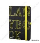 L-Y-O fekete/sárga A/5 jegyzetfüzet, vonalas