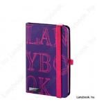 L-Y-O viola/fukszia A/6 jegyzetfüzet, négyzethálós