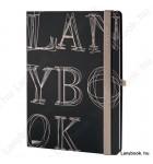L-Y-O Reflex fekete/drapp B/5 jegyzetfüzet, vonalas
