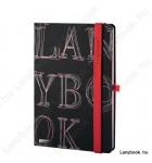L-Y-O Reflex fekete/vörös A/5 jegyzetfüzet, vonalas