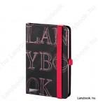 L-Y-O Reflex fekete/vörös A/6 jegyzetfüzet, sima