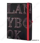 L-Y-O Reflex fekete/vörös B/5 jegyzetfüzet, vonalas