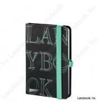 L-Y-O Reflex fekete/zöld A/6 jegyzetfüzet, sima