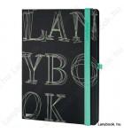 L-Y-O Reflex fekete/zöld B/5 jegyzetfüzet, vonalas