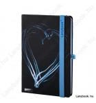 Night Light fekete/kék A/5 jegyzetfüzet, sima
