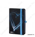 Night Light fekete/kék A/6 jegyzetfüzet, négyzetrácsos