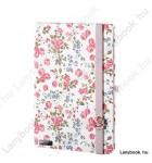 Bloomy Rose fehér/rózsaszín A/5 jegyzetfüzet, sima