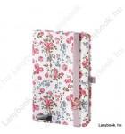 Bloomy Rose fehér/rózsaszín A/6 jegyzetfüzet, sima
