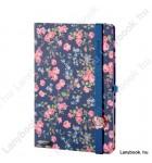 Bloomy Rose kék/sötétkék A/5 jegyzetfüzet, sima