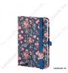 Bloomy Rose kék/sötétkék A/6 jegyzetfüzet, sima