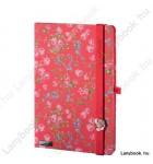 Bloomy Rose vörös/vörös A/5 jegyzetfüzet, sima