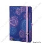 Dreamy Love kék/orgonalila A/5 jegyzetfüzet, sima