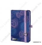 Dreamy Love kék/orgonalila A/6 jegyzetfüzet, sima