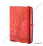 Dreamy Love vörös/vörös A/5 jegyzetfüzet, sima