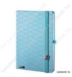 Glamorous Beauty világoskék/azúrkék A/5 jegyzetfüzet, négyzethálós