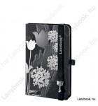 Tulip Mania fekete-ezüst/fekete A/6 jegyzetfüzet, sima