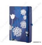 Tulip Mania kék-ezüst/kék A/5 jegyzetfüzet, sima