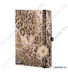 Wild Cat mogyoróbarna/barna A/5 jegyzetfüzet, négyzethálós