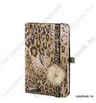Wild Cat mogyoróbarna/barna A/6 jegyzetfüzet, négyzethálós
