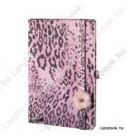 Wild Cat rózsaszín/rózsa A/5 jegyzetfüzet, sima