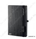 Sparkling Secrets USB  antracit/fekete A/5 jegyzetfüzet, négyzethálós