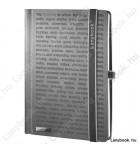 The One DS  fekete/szürke B/5 jegyzetfüzet, vonalas