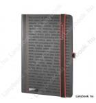 The One DS  fekete/vörös A/5 jegyzetfüzet, sima
