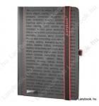 The One DS  fekete/vörös B/5 jegyzetfüzet, vonalas